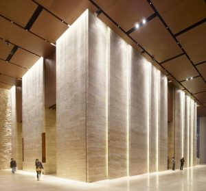 diseño de iluminación lobby